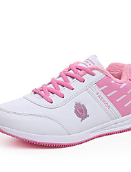 Women's Sneakers Comfort PU Athletic / Dress / Casual Flat Heel Lace-up Black / Pink / Gray Others / Sneaker