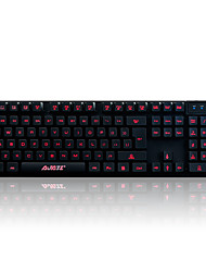 Gaming keyboard mechanical touch,3-color backlight,19key anti-ghosting A-Jazz Cyborg Soldier