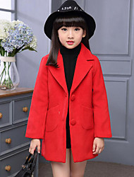 Girl's Casual/Daily Solid Down & Cotton Padded / Suit & BlazerPolyester Winter Black / Purple / Red / Gray