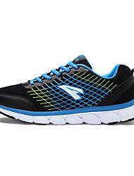 Masculino-Tênis-Conforto-Rasteiro-Preto Azul Azul Real-Tule-Para Esporte