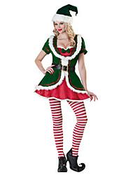 Costumes de Cosplay Vert / Rouge & blanc Térylène Accessoires de cosplay Noël / Carnaval