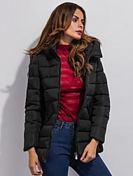 Women's Regular Padded Coat Simple Casual Long Sleeve Hooded