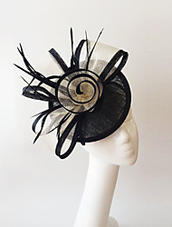 Kentucky Derby Church Races Black And Ivory Flax Wedding Event Fascinator