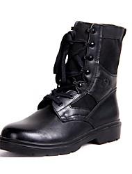 Черный-Мужской-Для прогулок-КожаНа платформе-Ботинки