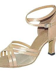 Customizable Women's Dance Shoes Satin Latin / Swing Shoes / Salsa Sandals / Heels Customized Heel Practice / Beginner