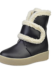 Women's Boots Fall / Winter Others Leather Casual Fur / Magic Tape Black / Brown / White Others