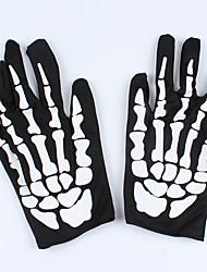 deus 1pc de luvas de pano morte osso para o partido traje de Halloween