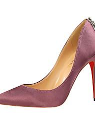 Women's Heels Winter Comfort  Dress Stiletto Heel Others Black / Green / Purple / Red / Gray / Royal Blue Walking