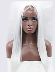оптовые длинные прямые белый цвет Afro женщины синтетический парик фронта шнурка