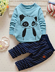 Boy's Casual/Daily Animal Print Hoodie & Sweatshirt / Clothing SetCotton Spring / Fall Blue / Pink / Gray