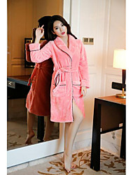 Ms. cute pajamas female autumn and winter clothes long-sleeved thick robe bathrobe coral flannel tracksuit M2012
