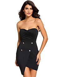 Women's  Strapless Wrapped Mini Dress