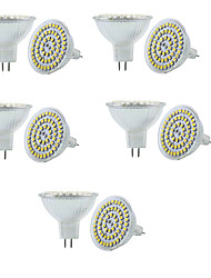 10pcs mr16 3w 250-300lm 60smd 3528 dc12v blanc chaud / blanc gradable projecteur conduit