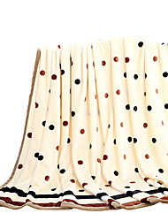 Bedtoppings Blanket Flannel Coral Fleece Fake Mink Queen Size 200x230cm Dot Prints Thicker