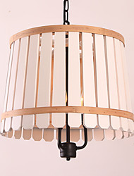 Pendant Light ,  Vintage Country Wood Feature for Designers Metal Living Room Bedroom Dining Room Study Room/Office Kids Room