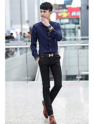 Men's Chinos Pants,Casual/Daily Simple Solid Mid Rise Zipper Cotton Micro-elastic Spring / Summer