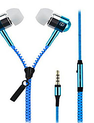 High Quality Zipper Stereo Headset with Mic/Volume Control/Noise-Cancelling for iPhone/Samsung and Others