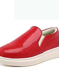 Boy's Loafers & Slip-Ons Spring Summer Fall Winter Comfort Patent Leather Outdoor Casual Athletic Flat Heel Others Black Red White Walking