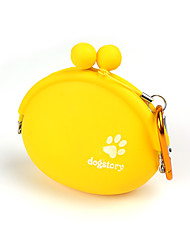 Out the silicone snack bag pet training Dog snack bags outdoor training package portable pockets with hooks