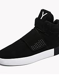 Herren-Sneaker-Outddor / Lässig / Sportlich-Wildleder-Flacher Absatz-Komfort / Modische Stiefel-Schwarz / Rot / Grau