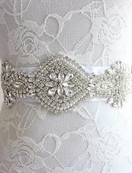 12 Color Optional Wedding Dress Bride Satin Belt Crystal Rhinestone Evening Dress Waistband Wedding Girdle