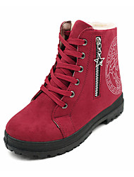 Для женщин Ботинки Удобная обувь Армейские ботинки Полиуретан Зима Повседневные Для прогулок Удобная обувь Армейские ботинки МолнииНа