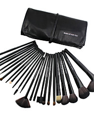 24 Eyeshadow Brush Synthetic Hair Professional / Portable Wood Face / Eye / Lip