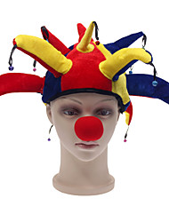 Cosplay Halloween Carnival Prom Adult Rainbow Color Clown Hats Suit