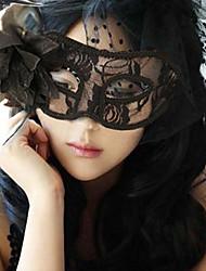 1pc latérales fleurs de soie bourgeon masque pour costume de halloween couleur aléatoire