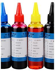 совместимый для заполнения чернил принтера (1 шт 4 цвета 1 цвет 100 мл / шт)