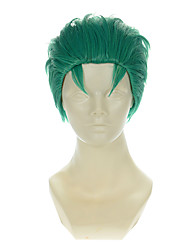 One Piece Two Years Later Of Roronoa Zoro Mixed Blue-Green Vertical Halloween Wigs Synthetic Wigs Costume Wigs