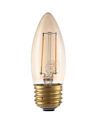 2W E26/E27 Lâmpadas de Filamento de LED B 2 COB 160 lm Âmbar Regulável V 1 pç