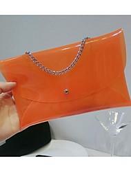 Feminino PVC Casual Bolsa de Mão
