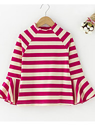 Girls' Casual/Daily Striped Tee,Cotton Spring Fall Long Sleeve
