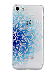 For iPhone 7Plus 7 6sPlus 6 Plus 6s 6 SE 5s 5 TPU Material Half Flower Pattern Stained Phone Case