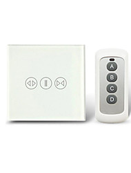 86 Type Smart Touch 433 RF Wireless Remote Control Curtain Switch