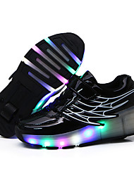 Unisex Kid Boy Girl LED Light Up Single Wheel Sneaker Athletic Shoes Sport Shoes Heelys Roller Shoes Dance Boot