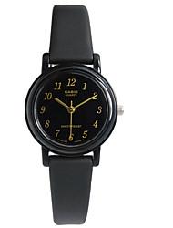 Mulheres Relógio de Moda Quartzo / Borracha Banda Luxuoso Casual Preta Preto