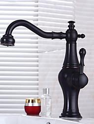 bronze esfregou-óleo terminar um buraco alças individuais torneira pia do banheiro