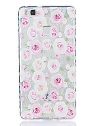 Pour huawei p9 p9 plus motif de roses tissu tpu boîtier de téléphone hautement transparent pour huawei p9 p9 plus y5ii y6ii