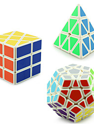 Yongjun® Smooth Speed Cube Pyraminx / Alien / Megaminx Professional Level Stress Relievers / Magic Cube White Smooth Sticker /Anti-pop /