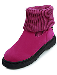 Women's Boots Winter Platform Microfibre Office & Career / Dress / Casual Low Heel Gore Black / Fuchsia Walking