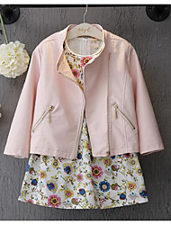 Girl's Going out Solid Suit & Blazer / Jacket & CoatPU Spring / Fall Pink