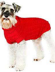Katzen / Hunde Kostüme / Mäntel / Pullover Rot / Grün / Blau / Rosa / Kaffee Hundekleidung Winter / Frühling/Herbst einfarbigNiedlich /