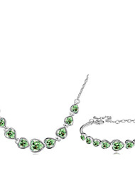 Thousands of colorsJewelry Necklaces / Bracelets & Bangles Jewelry set Crystal  1set Women -9-1-1-674-3-098