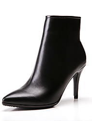 Mujer-Tacón Stiletto-Otro-Botas-Oficina y Trabajo Vestido Informal Fiesta y Noche-Cuero-Negro Bermellón