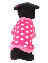 Dog Sweater Rose Dog Clothes Winter Polka Dots Casual/Daily / Keep Warm