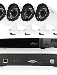 Szsinocam® 4CH 720P Video Recorder 1800TVL Waterproof Home Security Surveillance PLC Kits