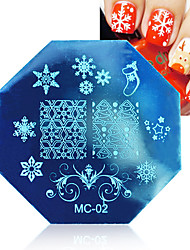 1 pcs Christmas Theme Nail Art Stamp Template Image Plate BORN PRETTY Nail Stamping Plates