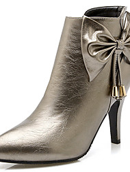 Women's Shoes Stiletto Heel Pointed Toe Bowknot Zipper Ankle Bootie More Color Available